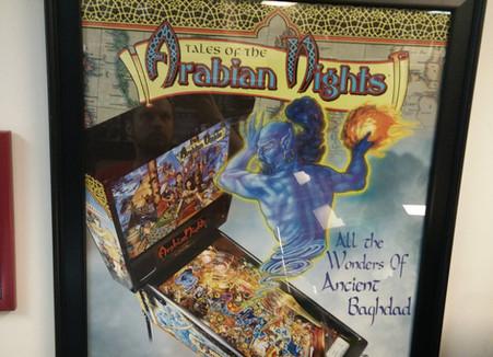 Arabian Nights Pinball Art