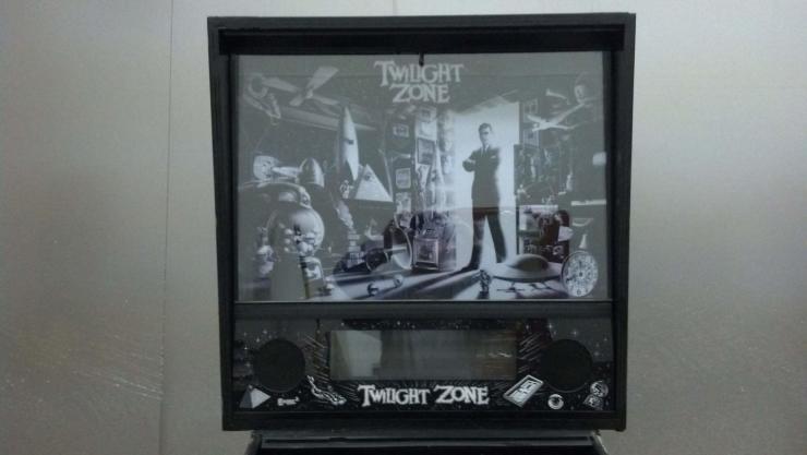Black and White Twilight Zone Translite