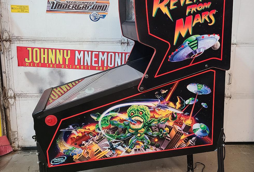Revenge From Mars pinball machine Prototype