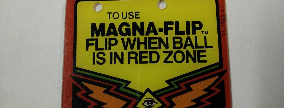 TWILIGHT ZONE Magna flip playfield plastic | Bally