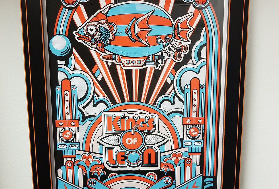 Kings of Leon Pinball poster