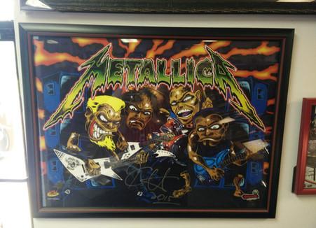 Metallica Pinball Translight Art
