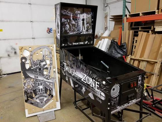 Update to Our Black and White Twilight Zone Pinball Machine