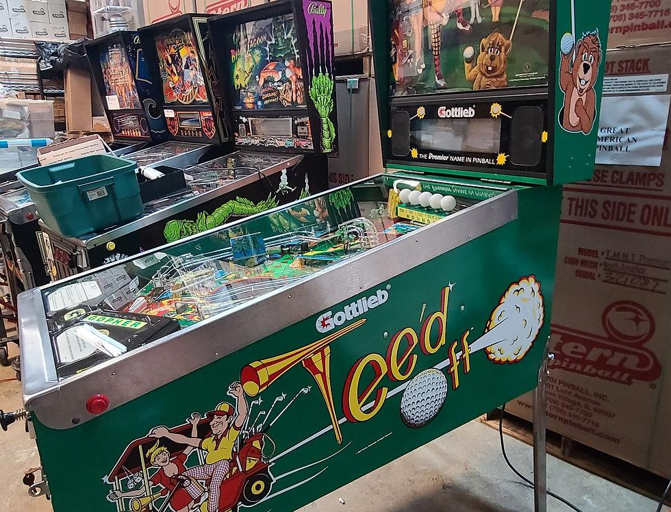 Gottlieb Teed off pinball machine