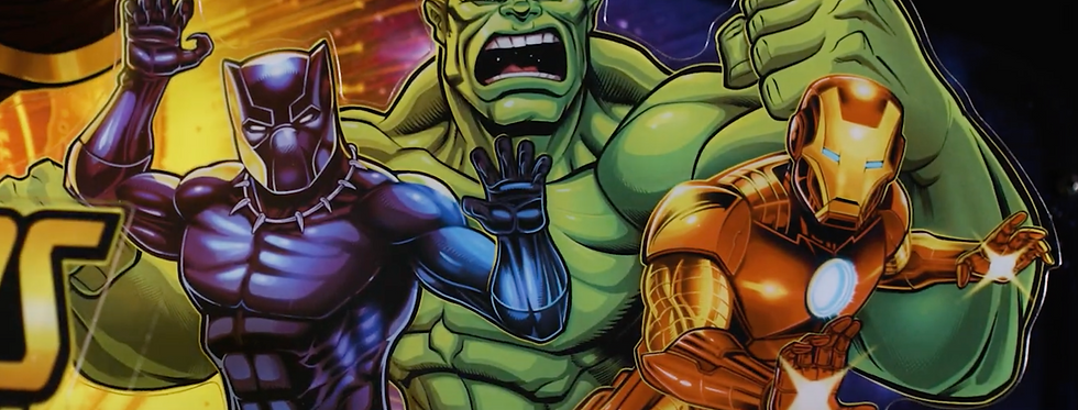 Avengers pinball machine topper