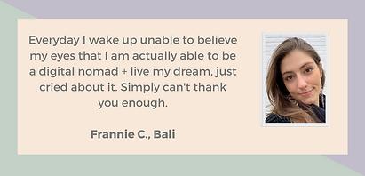 Frannie Testimonial