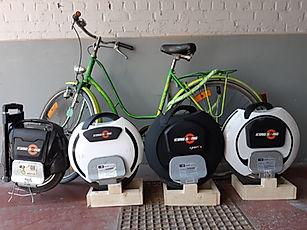 fiets en monowiel