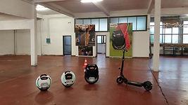 Kingsong leer ewheel rijden in deze zaal