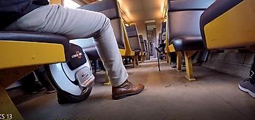 monowheel op de trein