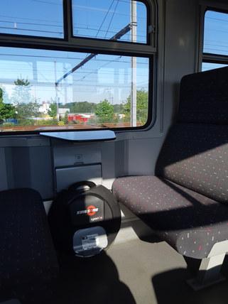 Kingsong ewheel in trein