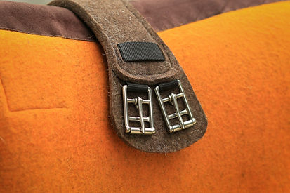 Saddle girth and stainless steel buckles