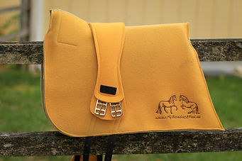 Get yourself a matching saddle blanket to your felt saddle