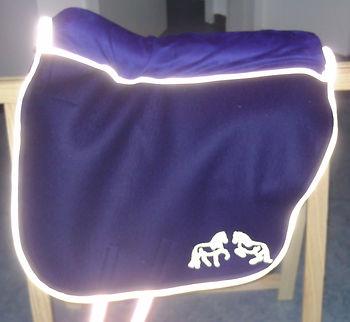 Reflektor-ausstattung Filzsattel, ideal für Ausritte