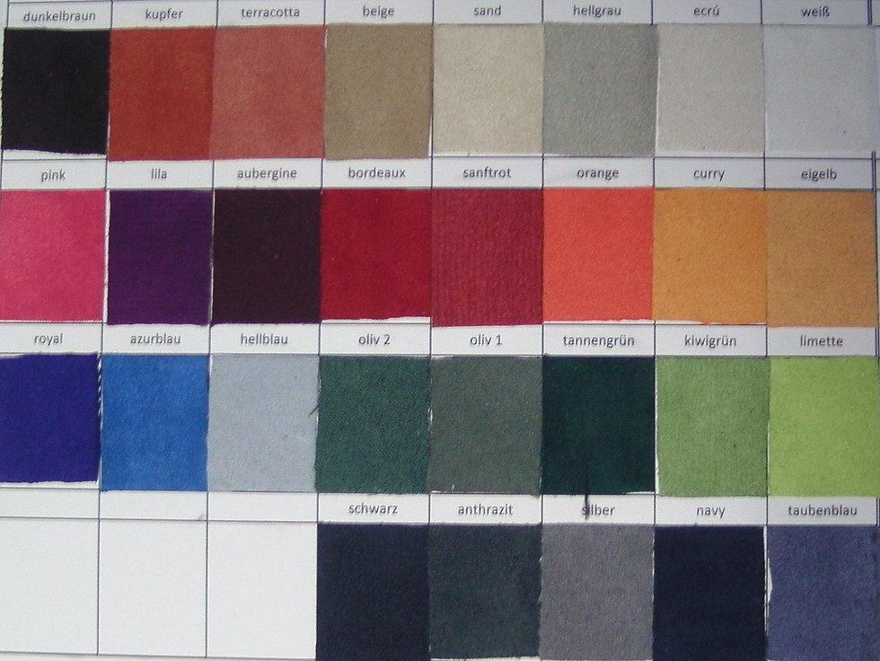 Color range for the Felt Saddle Comfort Padding