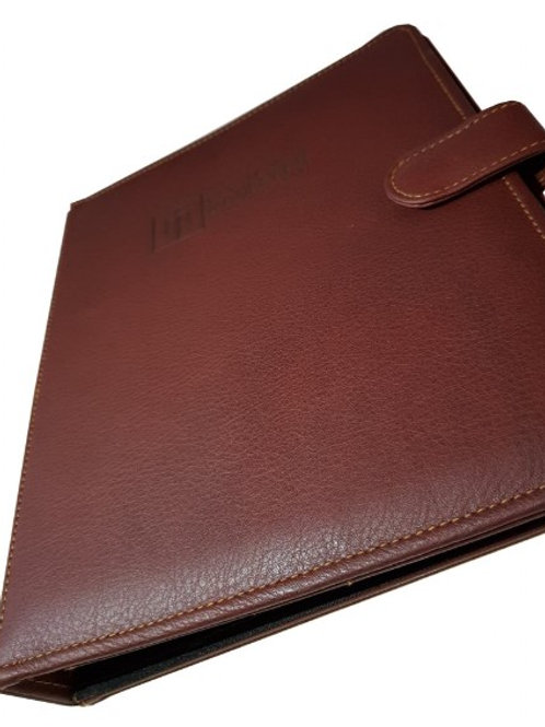 Premium Leather D Ring 8.5x11 A4 Paper