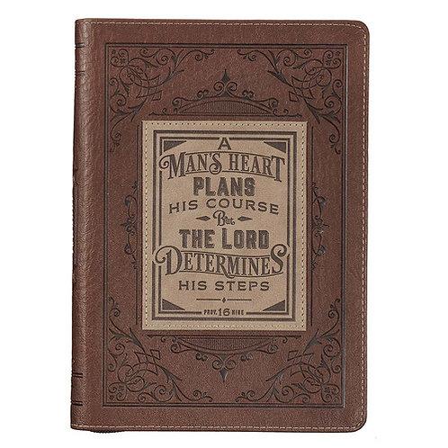 A Man's Heart Zippered Journal