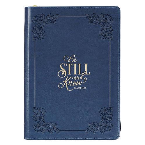 Be Still Zippered Journal