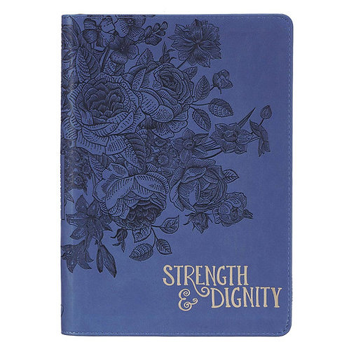 Strength and Dignity Zippered Journal