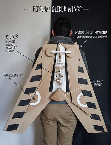 Lottie Smith, Cardboard, TWAM, discovery museum, fascinating histories, steampunk, artist in residence, make you play, what will you invent?, propmaker, instructables, wearable wings