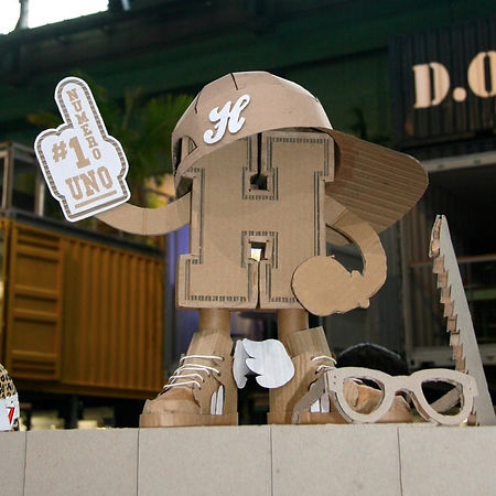 Lottie Smith, Cardboard sculpture, Prop and Set design, Beck&Hersey, Bread and Butter, Berlin, Trade Show, Fashion, stand designer, branding