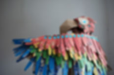 Parrot Costume, Lottie Smith, Makedo, Dress Up, Costume, Recycling, DIY, Halloween, Instructables, cardboard, recycle, upcycle