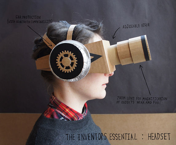 Lottie Smith, Cardboard, TWAM, discovery museum, fascinating histories, steampunk, artist in residence, make your play, what will you invent?