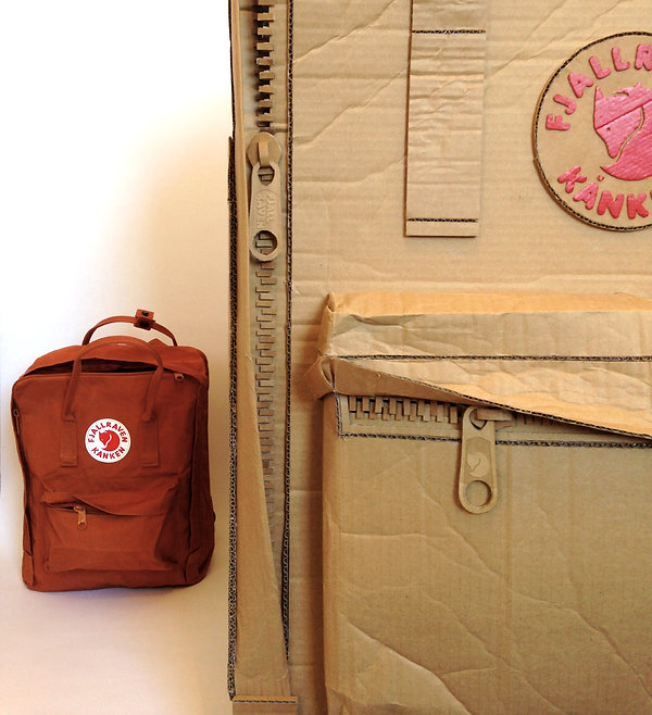 Giant Fjällräven Kånken Bag Cardboard Prop Sculpture OiPolloi Manchester Shop Window Design Lottie Smith