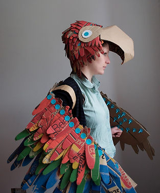 Parrot Costume, Lottie Smith, Makedo, Dress Up, Costume, Recycling, DIY, Halloween, Instructables, upcycle, recycle