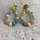 Thumbnail: Boucles d'oreilles NINON multicolores  pastel