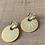Thumbnail: Boucles d'oreilles  COSMO blanc