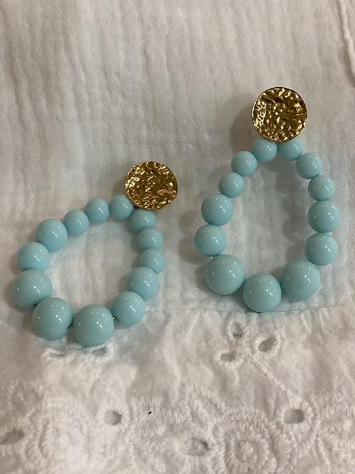 Boucles d'oreilles NINON turquoise