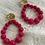 Thumbnail: Boucles d'oreilles NINON fushia