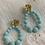 Thumbnail: Boucles d'oreilles NINON turquoise