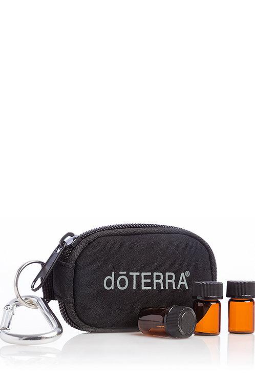 Porte-clés, noir à 8 flacons