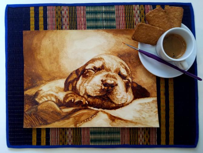 Il caffè come pittura... un pigmento in cucina!