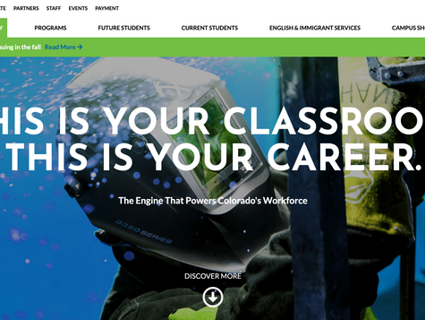 Emily Griffith Technical College Website Redesign