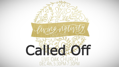 Living Nativity Event *Called Off*