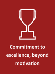 Commitment to excellence, beyond motivation