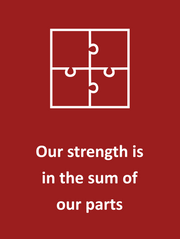 Our strenth is the sum of our parts.