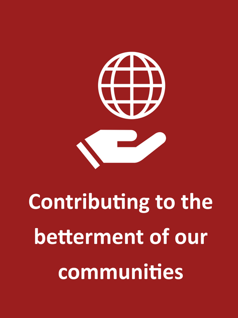 Contributing to the betterment of our communities.