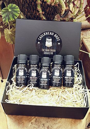 The Dark Order Collective Beard Oil sample set