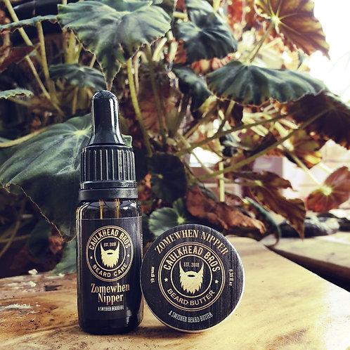 Zomewhen Nipper Beard Oil & Butter Combo Set