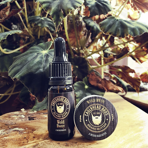 Wold Bwoy Beard Oil & Butter Combo Set