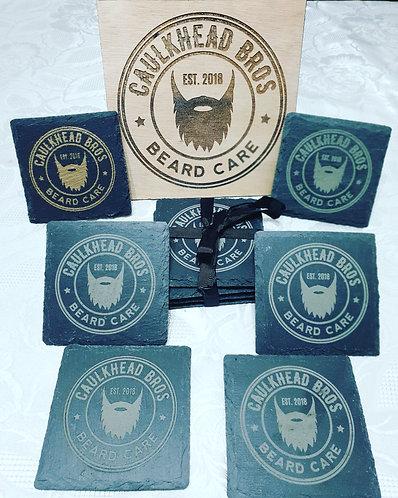 Caulkhead Bros Slate Tea Coasters