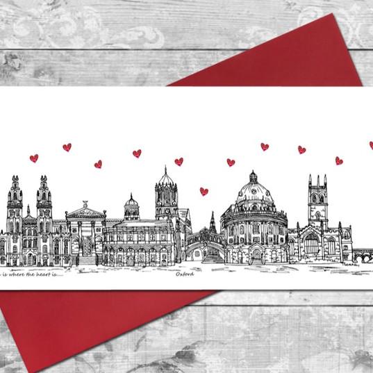 Oxford skyline card - Tina Leahey