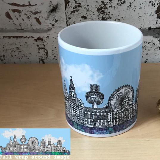 Liverpool Skyline Mug - Tina Leahey