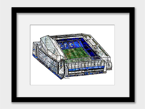 Everton FC Stadium, Goodison Park Print - COYB