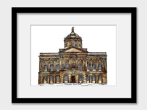 Liverpool Town Hall print