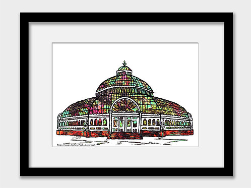 Liverpool Palm House, Sefton Park Print