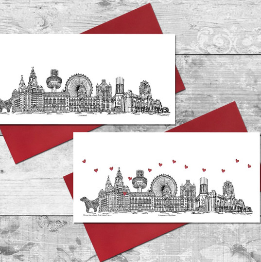 liverpool  skyline card - Tina Leahey